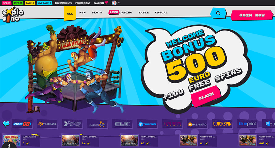 Explosino Online Casino Review