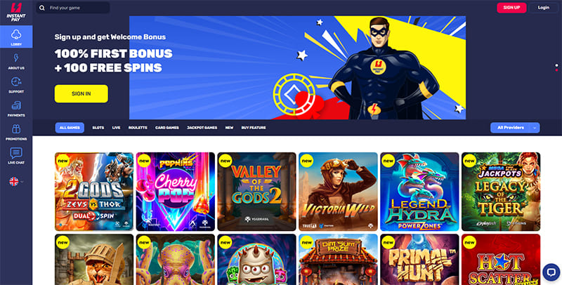 InstantPay Online Casino Review by Casinoid.in